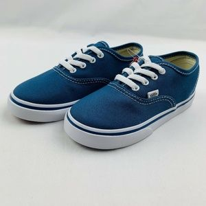 New Vans Authentic Navy White Toddler Skate Shoes